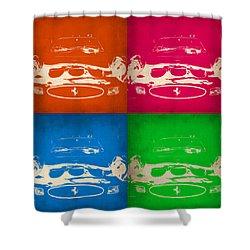 Ferrari Front Pop Art 4 Shower Curtain by Naxart Studio