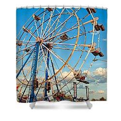 Ferris Wheel Shower Curtain by Steve Harrington