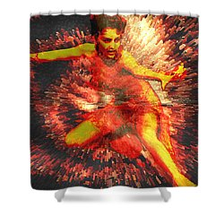 Fever Shower Curtain by Seth Weaver