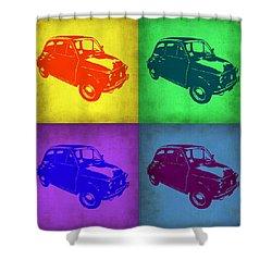 Fiat 500 Pop Art 1 Shower Curtain by Naxart Studio