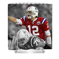 Field General Tom Brady  Shower Curtain by Brian Reaves