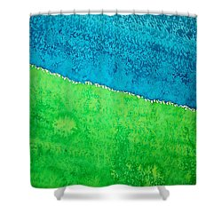 Field Of Dreams Original Painting Shower Curtain by Sol Luckman