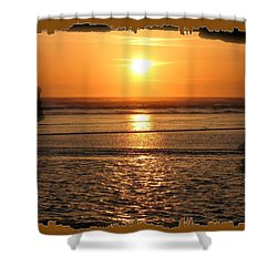 Fiery Cannon Beach Sunset Shower Curtain by Will Borden