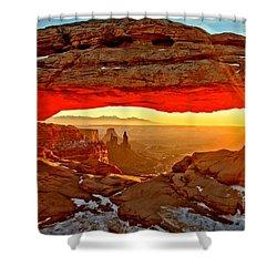 Fiery Morning Shower Curtain by Adam Jewell