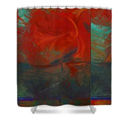 Fiery Whirlwind Onset Shower Curtain by CR Leyland