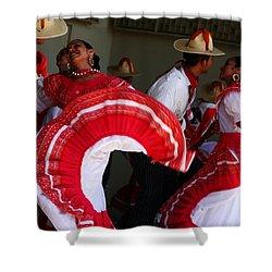 Fiesta De Los Mariachis Shower Curtain by Joe Kozlowski