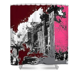 Film Homage D.w. Griffith Intolerance 1916 Fall Of Babylon 1916-2012  Shower Curtain by David Lee Guss