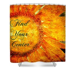 Find Your Center  Shower Curtain by Andee Design
