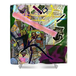 Finding Meaning Despite Appearances 2h Shower Curtain by David Baruch Wolk