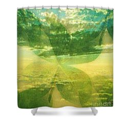 Finding Your Clover Shower Curtain by PainterArtist FIN
