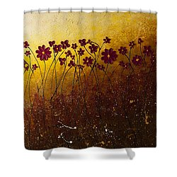 Fiori Di Campo Shower Curtain by Carmen Guedez