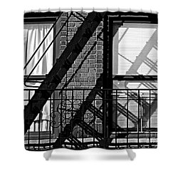 Fire Escape Shower Curtain by James Aiken