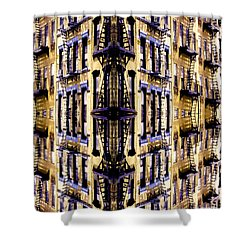 Fire Escapes - New York City Shower Curtain by Linda  Parker