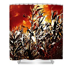 Fire In The Corn Field Shower Curtain by Gaspar Avila