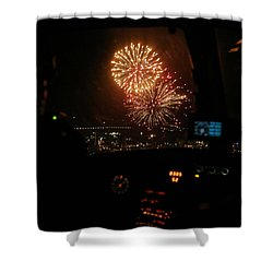 Fire In The Sky Shower Curtain by Paul Job