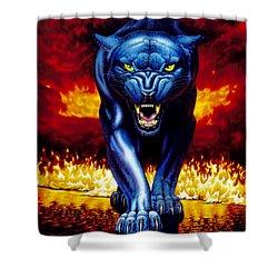 Fire Panther Shower Curtain by MGL Studio - Chris Hiett