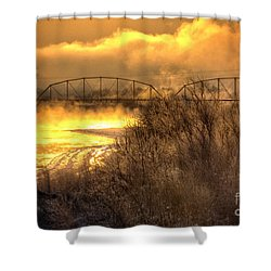 Fire Water Shower Curtain by Bob Hislop