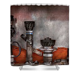 Firefighting - One For Everyone Shower Curtain by Mike Savad