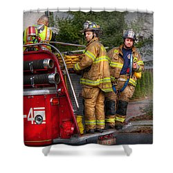 Firefighting - Only You Can Prevent Fires Shower Curtain by Mike Savad