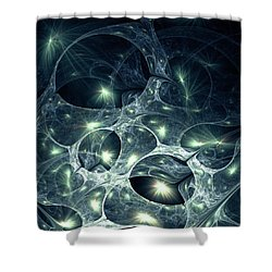 Fireflies Shower Curtain by Anastasiya Malakhova