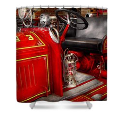 Fireman - Fire Engine No 3 Shower Curtain by Mike Savad