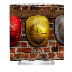 Fireman - Hats - Pick A Hat Any Hat  Shower Curtain by Mike Savad
