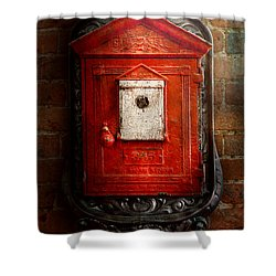 Fireman - The Fire Box Shower Curtain by Mike Savad