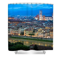 Firenze By Night Shower Curtain by Inge Johnsson
