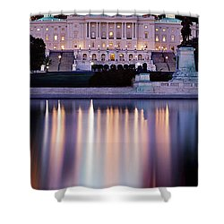 Firework Display Over A Government Shower Curtain by Panoramic Images