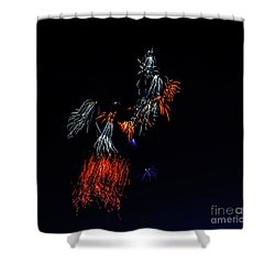 Fireworks Abstract Shower Curtain by Robert Bales