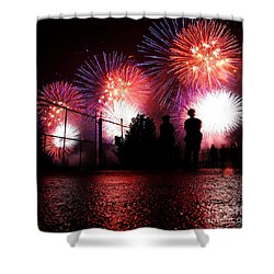 Fireworks Shower Curtain by Nishanth Gopinathan
