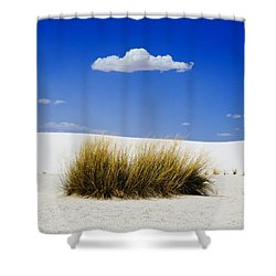First Contact Shower Curtain by Skip Hunt