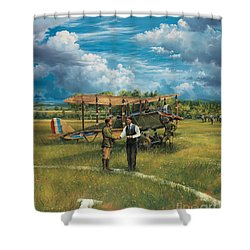 First Landing At Shepherd's Field Shower Curtain by Randy Green