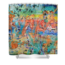 First Microseconds Shower Curtain by Regina Valluzzi