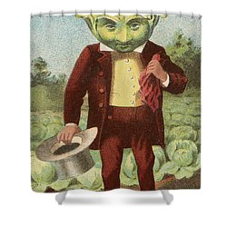 First Premium Cabbage Head Shower Curtain by Aged Pixel