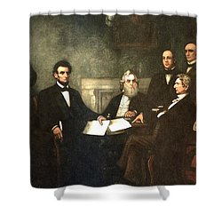 First Reading Of The Emancipation Proclamation Of President Lincoln Shower Curtain by Georgia Fowler