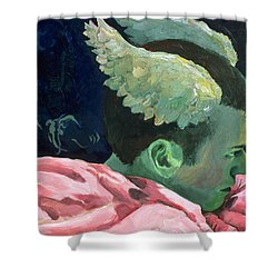 First Sight Shower Curtain by Rene Capone