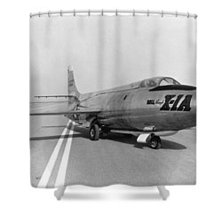 Shower Curtain featuring the photograph First Supersonic Aircraft, Bell X-1 by Science Source