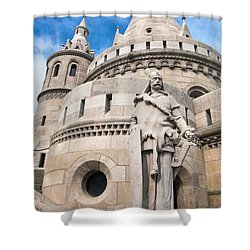 Fisherman's Bastion In Budapest Shower Curtain by Michal Bednarek