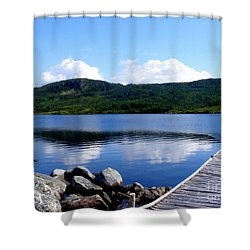 Fishing Day - Calm Waters - Digital Painting Shower Curtain by Barbara Griffin