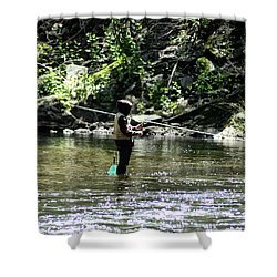 Fishing The Wissahickon Shower Curtain by Bill Cannon