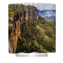 Fitzroy Falls In Kangaroo Valley Australia Shower Curtain by David Smith
