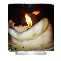 Flame Candle Art Shower Curtain by Sharon Cummings