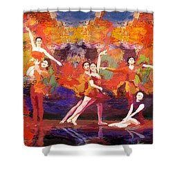 Flamenco Dancer 022 Shower Curtain by Catf