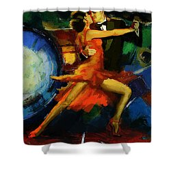 Flamenco Dancer 029 Shower Curtain by Catf