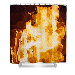 Flaming Waters Shower Curtain by Omaste Witkowski