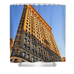 Flatiron Building Profile Too Shower Curtain by Randy Aveille