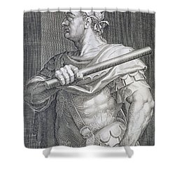 Flavius Domitian Shower Curtain by Titian