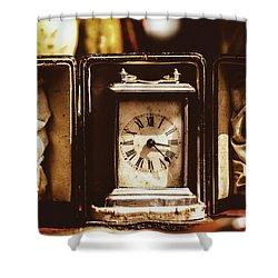Flea Market Series - Clock Shower Curtain by Marco Oliveira