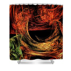 Flight To Oz Shower Curtain by Andee Design